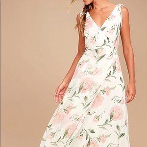 Romantic Possibilities White Floral Maxi Dress